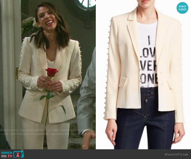 Cinq a Sept Vivianna Blazer worn by Abigail Deveraux (Kate Mansi) on Days of our Lives