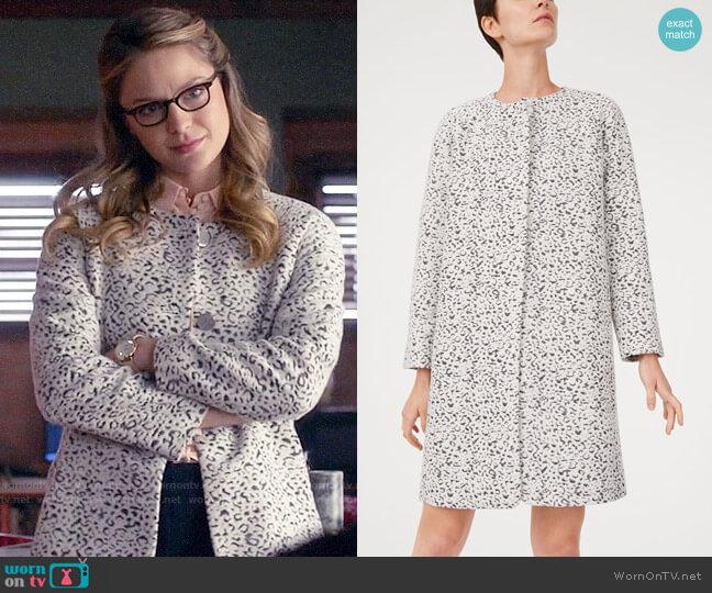 Club Monaco Imelda Coat worn by Kara Danvers (Melissa Benoist) on Supergirl