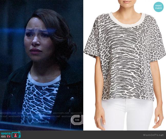 Current/Elliott The Roadie Tee in Leopard worn by Nora West-Allen (Jessica Parker Kennedy) on The Flash