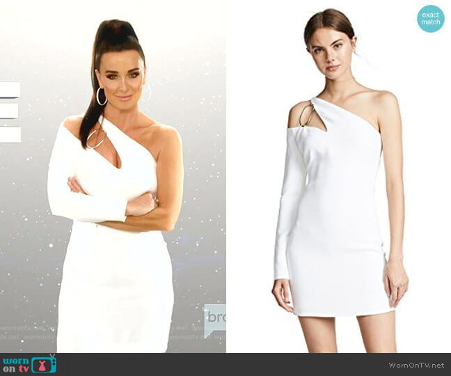 Vittoria One Shoulder Dress by Cushnie worn by Kyle Richards  on The Real Housewives of Beverly Hills