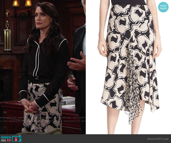 Diane von Furstenberg Posey Skirt worn by Quinn Fuller (Rena Sofer) on The Bold & the Beautiful