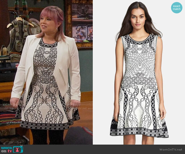 Diane von Furstenberg Sleeveless Fit & Flare Dress worn by Kristin Baxter (Amanda Fuller) on Last Man Standing