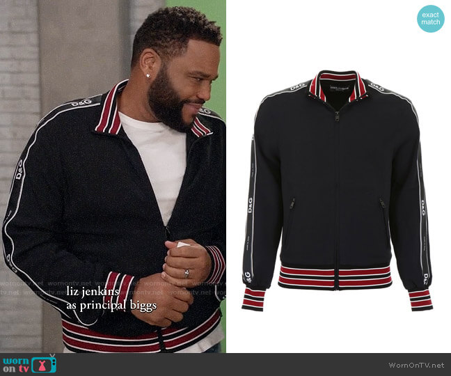 Dolce & Gabbana Cady Track Jacket worn by Andre Johnson (Anthony Anderson) on Blackish