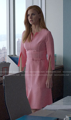 Donna's pink split sleeve dress on Suits