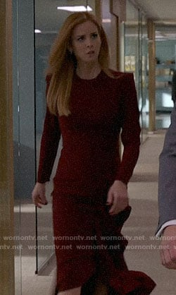 Donna's red long sleeved dress on Suits