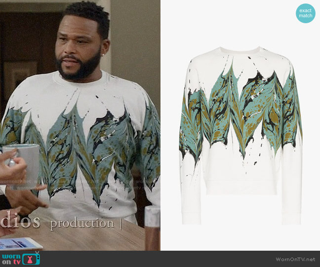 Dries van Noten Splash Sweatshirt worn by Andre Johnson (Anthony Anderson) on Blackish