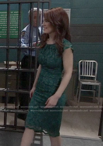 Elizabeth's green lace dress on General Hospital