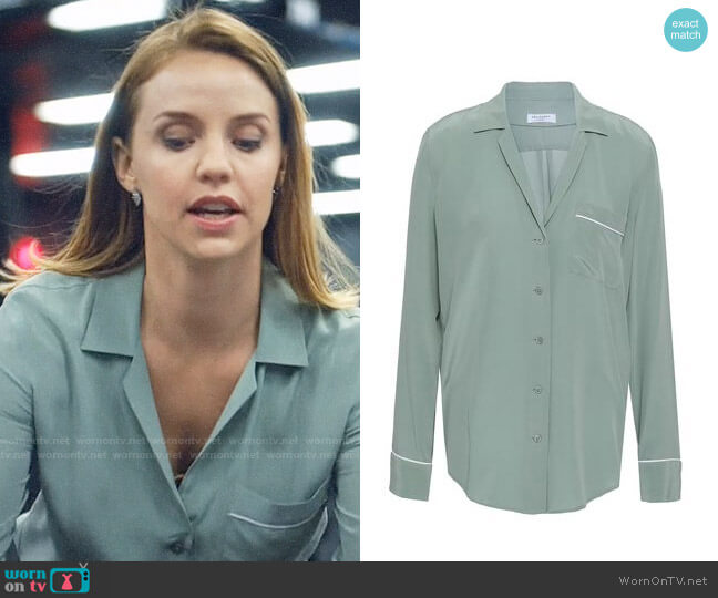 Equipment Washed Silk Pajama Top worn by Kate Ryan (Kelli Garner) on The Enemy Within