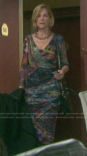 Eve's mixed print dress on Days of our Lives