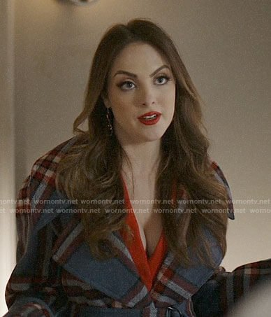 Fallon's blue plaid coat on Dynasty