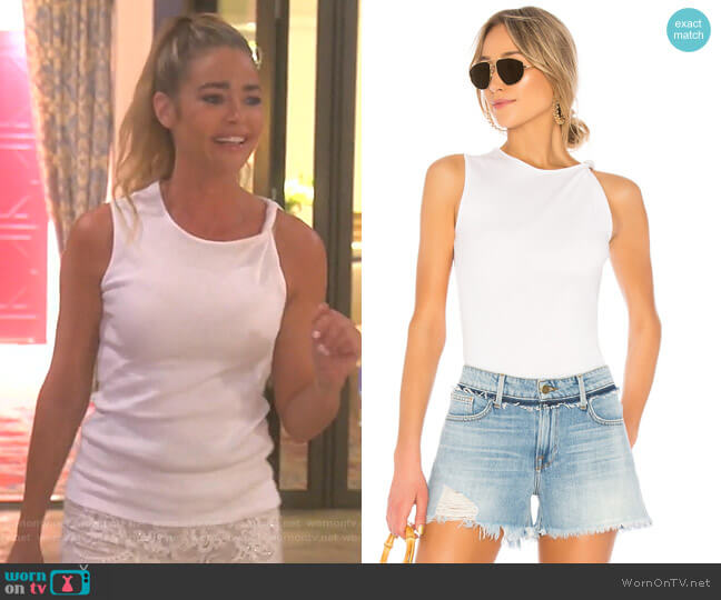 Knot Shoulder Tank by Frame worn by Denise Richards (Denise Richards) on The Real Housewives of Beverly Hills