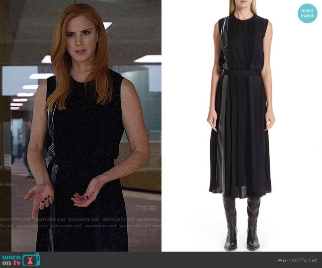 Givenchy Mixed Pleat Dress worn by Donna Paulsen (Sarah Rafferty) on Suits