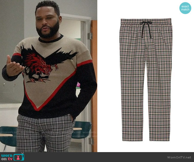 Gucci Check Wool Pants worn by Andre Johnson (Anthony Anderson) on Blackish