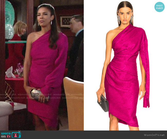 Hellessy Ainsley Dress worn by Kerry Johnson (Alice Hunter) on The Young & the Restless