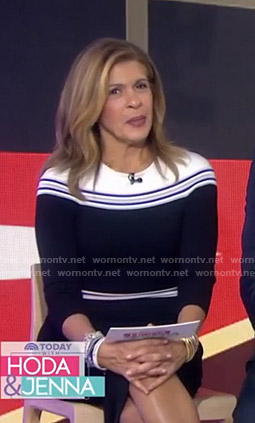 Hoda's black striped dress on Today