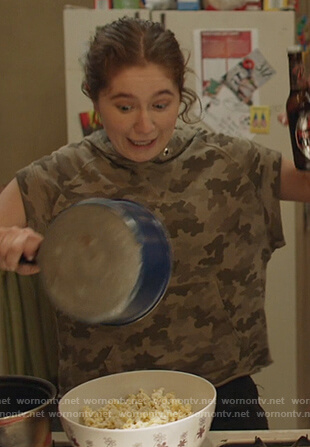 Debbie's camo top on Shameless