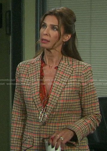 Hope's checked blazer on Days of our Lives