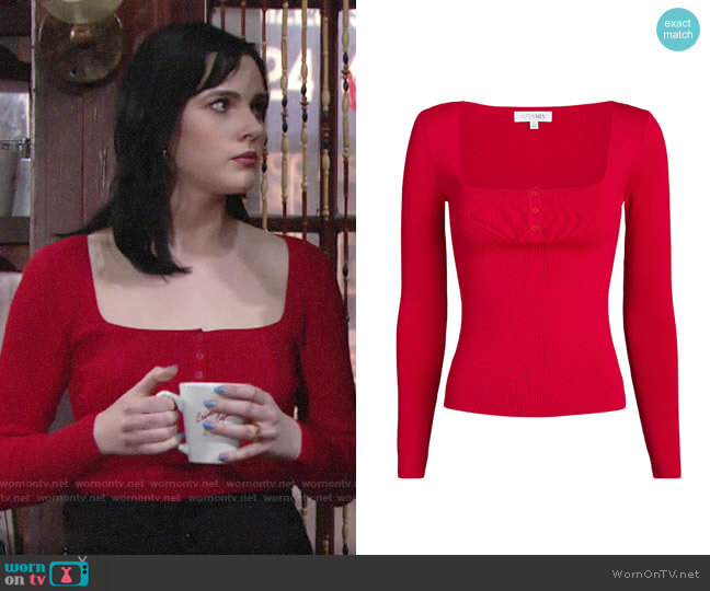 Intermix Daria Top worn by Tessa Porter (Cait Fairbanks) on The Young & the Restless