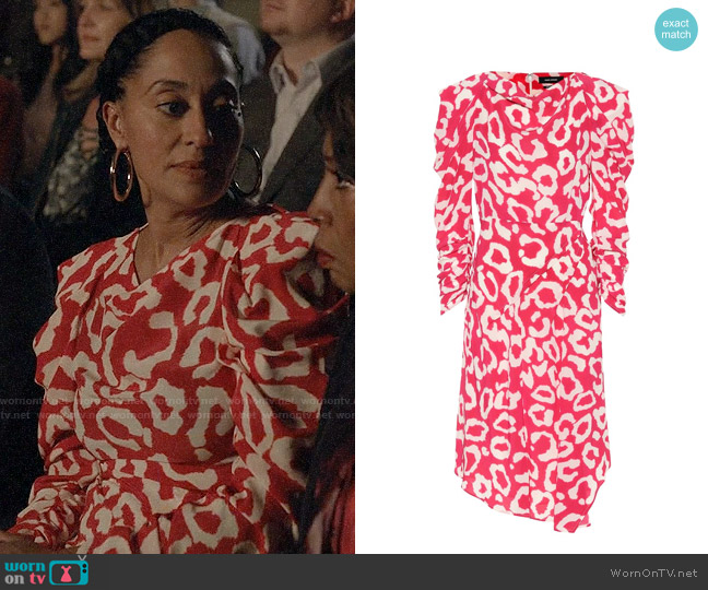 Isabel Marant Carley Dress worn by Rainbow Johnson (Tracee Ellis Ross) on Blackish