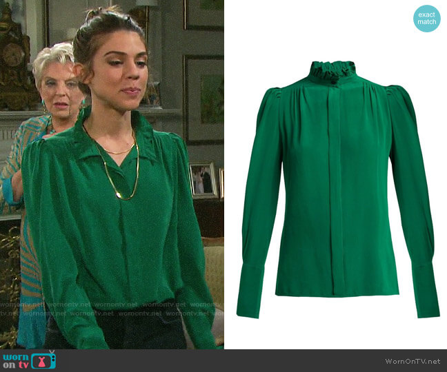 Isabel Marant Lamia Blouse worn by Abigail Deveraux (Kate Mansi) on Days of our Lives