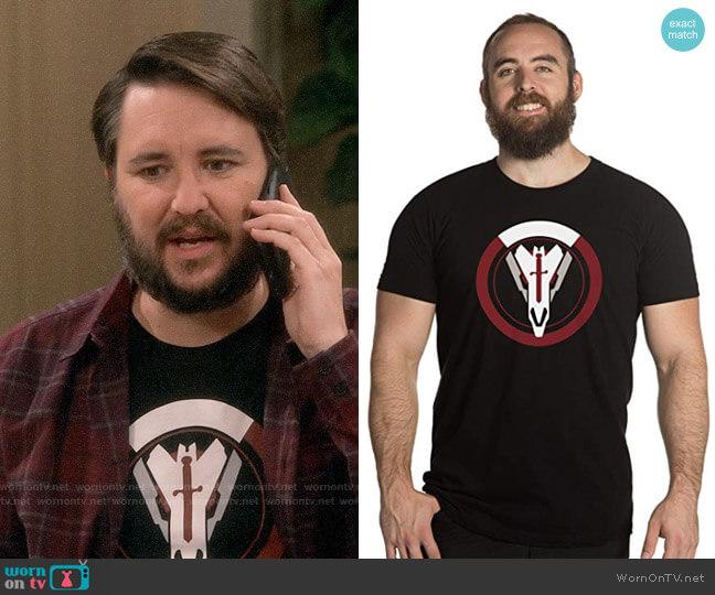 Jinx Overwatch Blackwatch Sigil Tee worn by Wil Wheaton on The Big Bang Theory