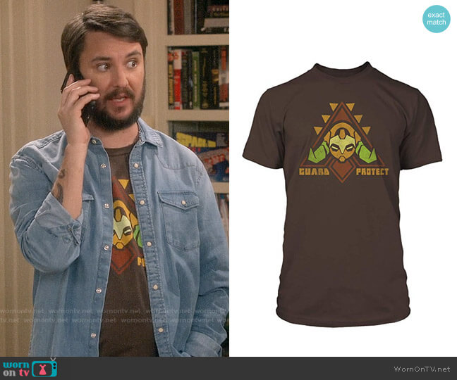 Jinx Overwatch To Guard and Protect Tee worn by Wil Wheaton on The Big Bang Theory