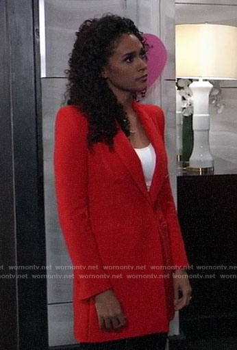 3b06c51045f6be Jordan s red blazer dress on General Hospital