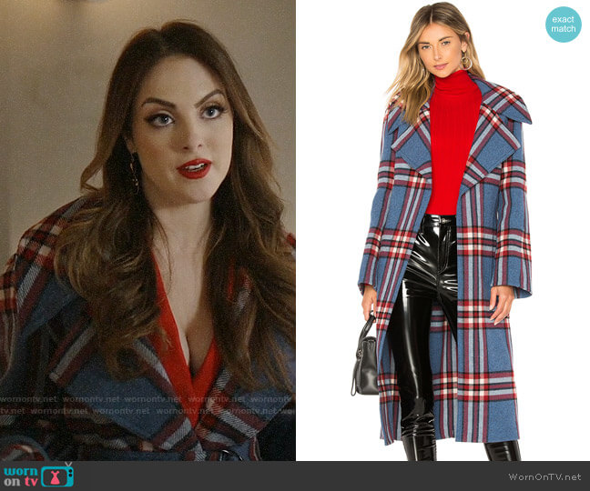 Joseph Teodor Coat worn by Fallon Carrington (Elizabeth Gillies) on Dynasty