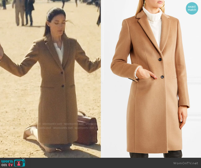Joseph Man wool and cashmere-blend coat worn by Erica Shepherd (Jennifer Carpenter) on The Enemy Within