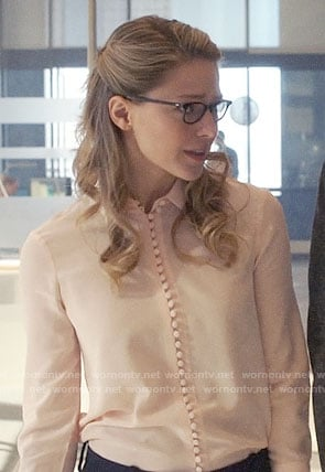 Kara's blush button down blouse on Supergirl