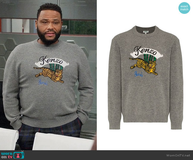 Kenzo Jumping Tiger Sweater worn by Andre Johnson (Anthony Anderson) on Blackish