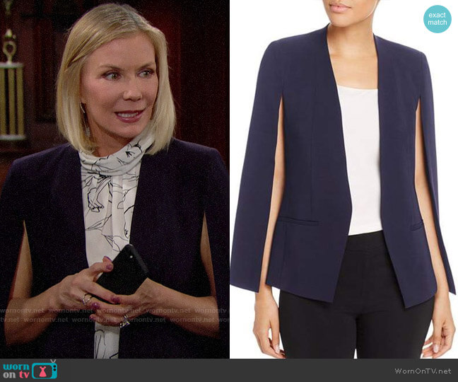Kobi Halperin Natalie Cape Jacket worn by Brooke Logan (Katherine Kelly Lang) on The Bold & the Beautiful