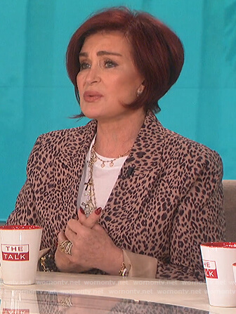 Sharon's leopard print blazer on The Talk
