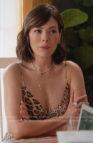 Camille's leopard print cami on Splitting Up Together