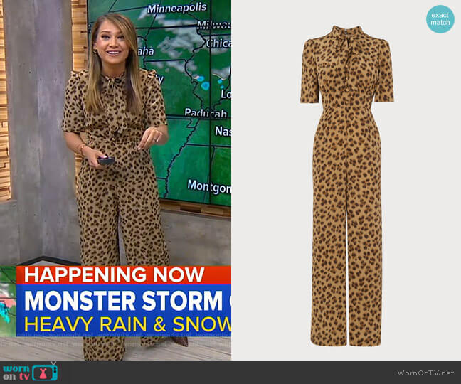 Marmont Jumpsuit by LK Bennett worn by Ginger Zee  on Good Morning America