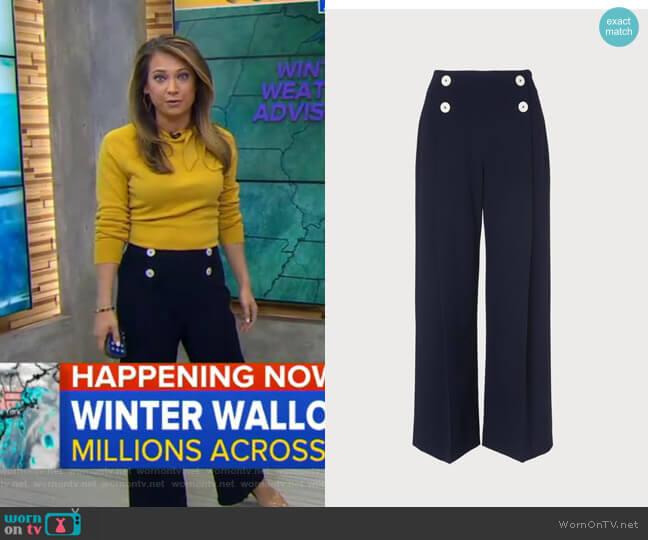 Parker Pants by LK Bennett worn by Ginger Zee  on Good Morning America