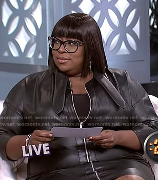 Loni's leather zip front dress on The Real