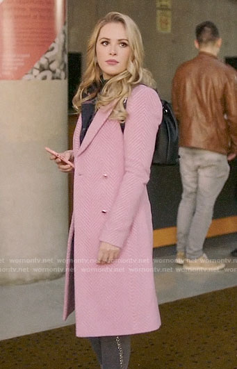 Lucy's pink chevron coat on Charmed