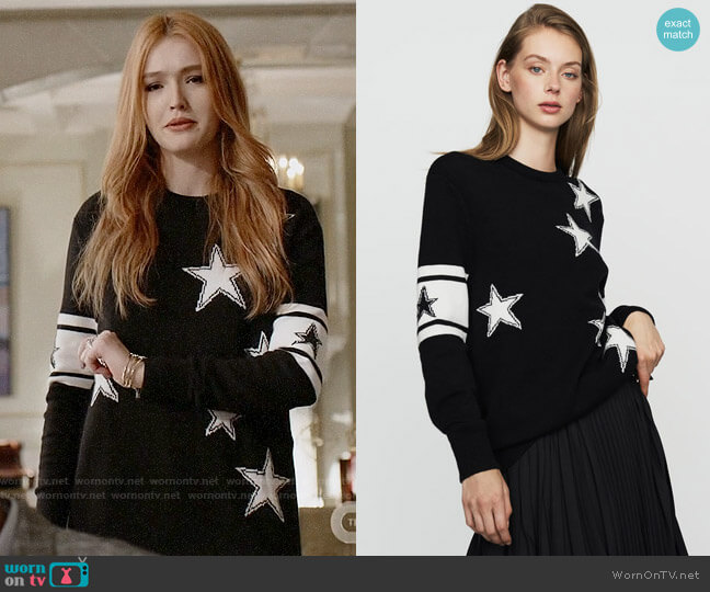 Maje Mina Sweater worn by Kirby Anders (Maddison Brown) on Dynasty