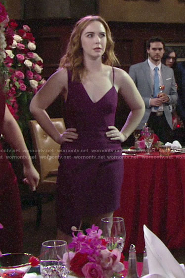 Mariah's purple Valentines Day dress on The Young and the Restless
