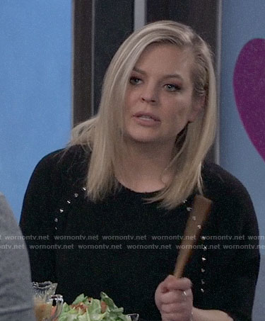 Maxie's black studded sweater on General Hospital