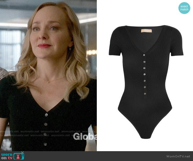 Michael Kors Collection Bodysuit worn by Marissa Morgan (Geneva Carr) on Bull