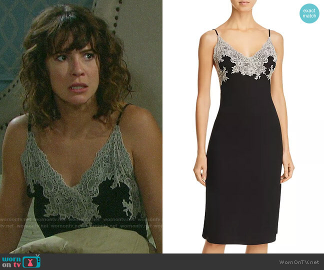 Natori Luxe Shangri-La Chemise worn by Sarah Horton (Linsey Godfrey) on Days of our Lives