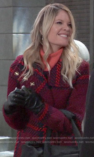 Nina's plaid coat on General Hospital