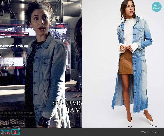 NSF Adler Denim Jacket worn by Zoe Ramirez (Andrea Sixtos) on Arrow