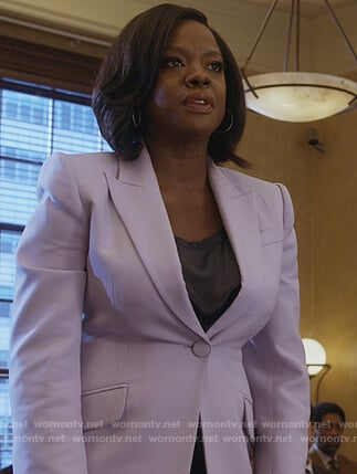Annalise's purple single breasted blazer on How to Get Away with Murder