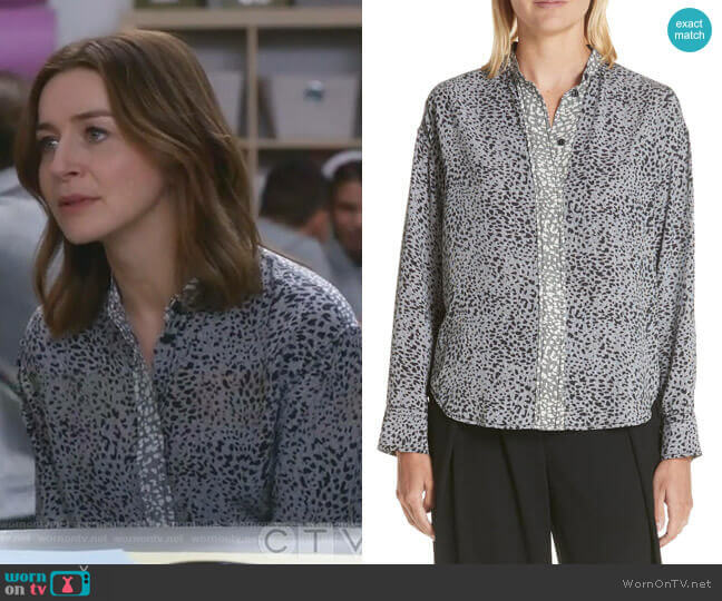 Christie Shirt by Rag & Bone worn by Amelia Shepherd (Caterina Scorsone) on Greys Anatomy