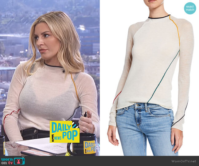 Lydia Top by Rag & Bone worn by Morgan Stewart  on E! News