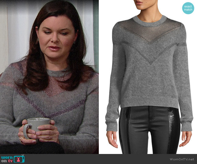 Rag & Bone Blaze Sweater worn by Katie Logan (Heather Tom) on The Bold & the Beautiful