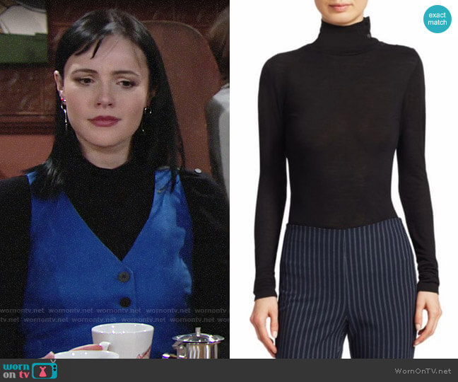 Rag & Bone Leyton Sweater worn by Tessa Porter (Cait Fairbanks) on The Young & the Restless